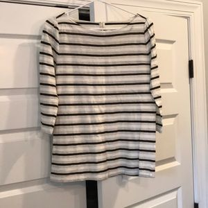 Loft striped top.